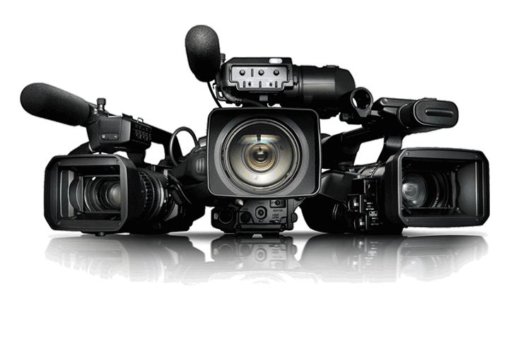 trois caméras avec micro intégré