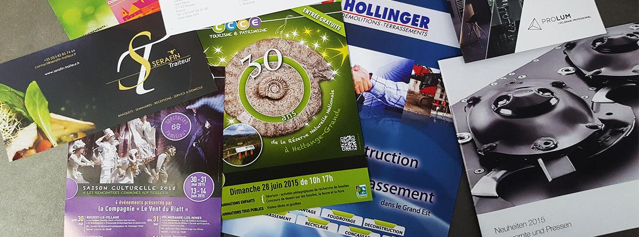 Brochures, plaquettes, catalogues pour différents clients