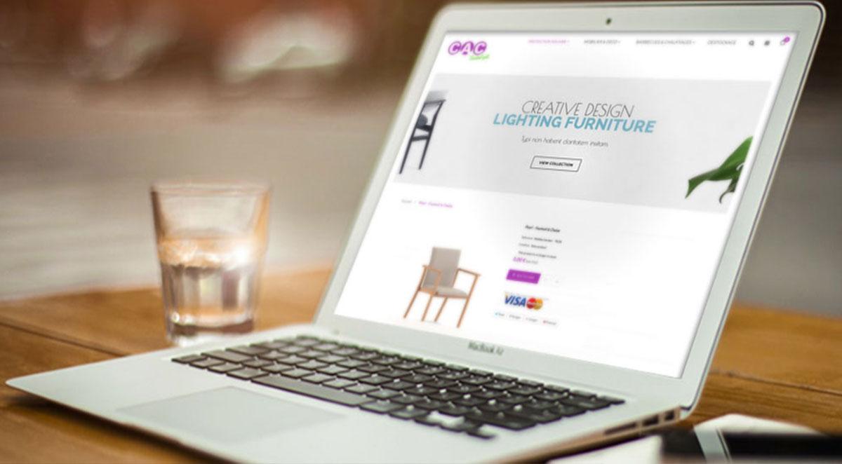 Boutique en ligne pour le magasin CAC