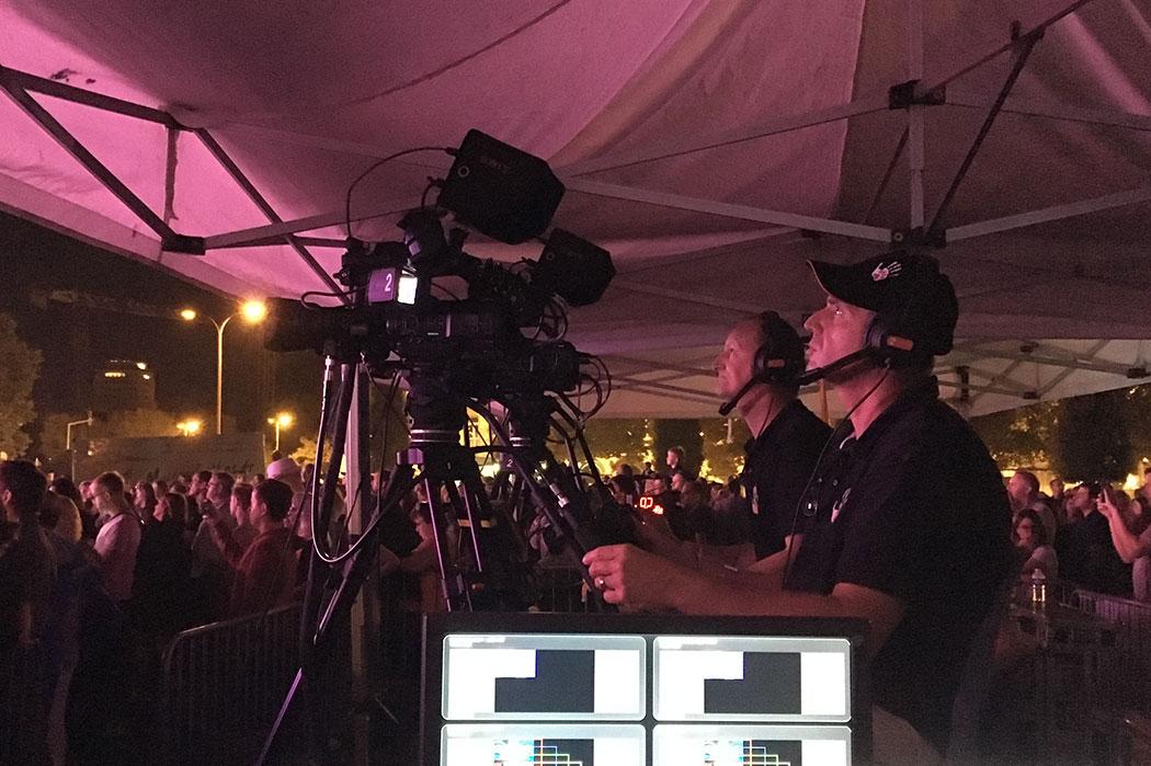 Captation avec deux caméra pour un évènement en extérieur